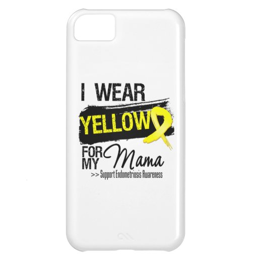 Mama Yellow Ribbon Endometriosis Case For iPhone 5C