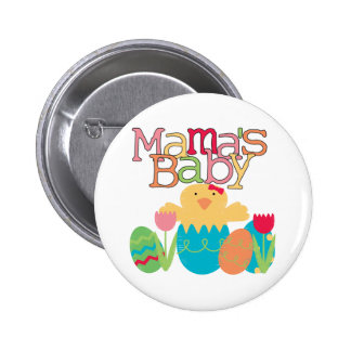 Mama's Baby - Girl Chick Easter T-shirts and Gifts 6 Cm Round Badge