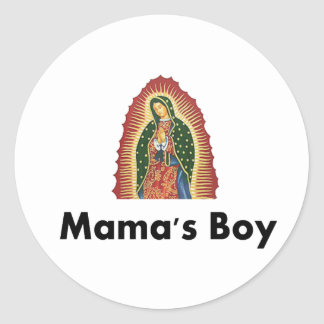 Mamas Boy Classic Round Sticker
