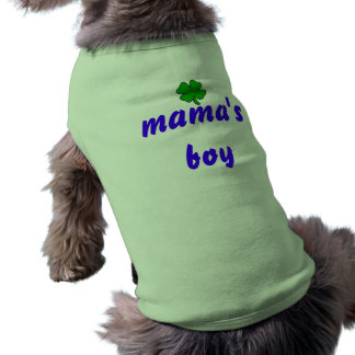 mamas boy dog shirt