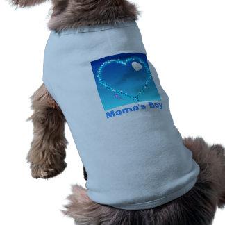 Mamas Boy Doggie Ribbed Tank Top Sleeveless Dog Shirt
