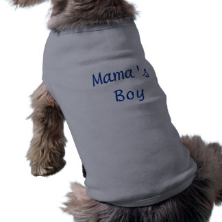 Mama's Boy Sleeveless Dog Shirt