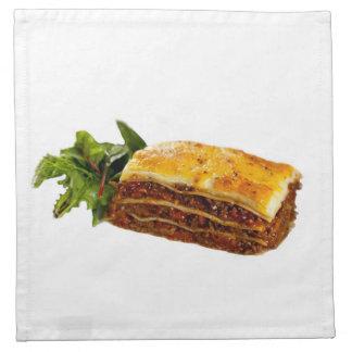 """Mama's Lasagne"" design cloth dinner napkins"
