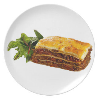 """Mama's Lasagne"" design plate"