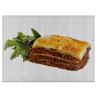 """""""Mama's Lasagne"""" design square chopping board"""