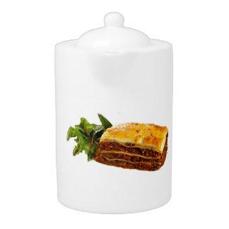 """Mama's Lasagne"" design teapot"