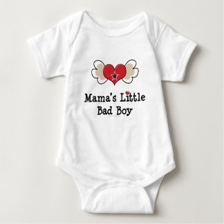 Mama's Little Bad Boy Funny Baby Tshirts