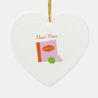 Mamas Recipes Ceramic Heart Decoration