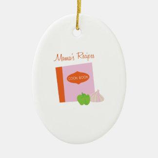 Mamas Recipes Ceramic Oval Decoration