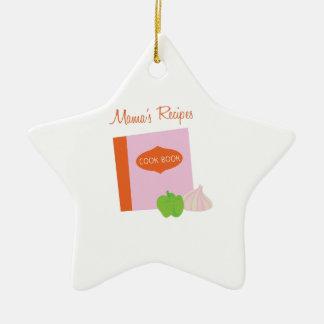 Mamas Recipes Ceramic Star Decoration
