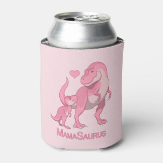 MamaSaurus T-Rex and Baby Boy Dinosaurs Can Cooler