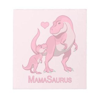 MamaSaurus T-Rex and Baby Boy Dinosaurs Notepad