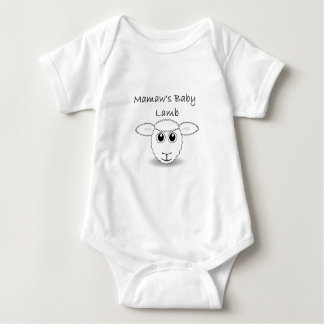 Mamaw's Baby Lamb Baby Bodysuit