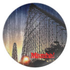 Mamba Rollercoaster World's of Fun Kansas City Plate
