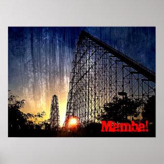 Mamba Rollercoaster World's of Fun Kansas City Poster