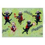 Mambo Labrador Musicians Painting