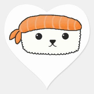Mamesushi - Cute Sushi sticker Heart Sticker
