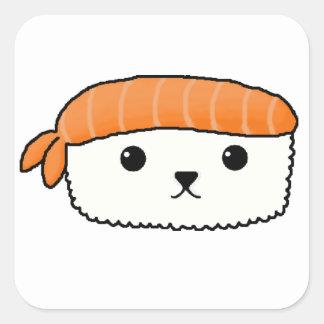 Mamesushi - Cute Sushi sticker Square Sticker