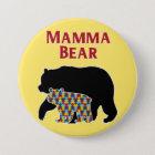 Mamma Bear, Autism Mum Pride 7.5 Cm Round Badge