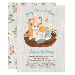 Puppy shower invitations announcements zazzle mamma dog baby puppy baby shower invitations filmwisefo Image collections