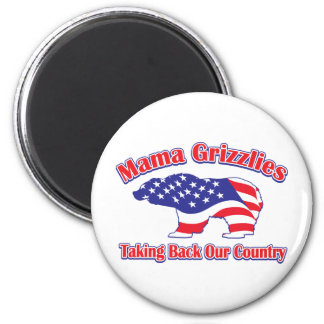 Mamma-Grizzly 6 Cm Round Magnet