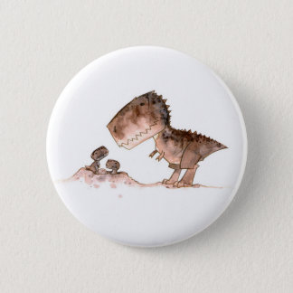 Mamma T-Rex Button