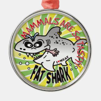 Mammals Fat Shark Ornaments