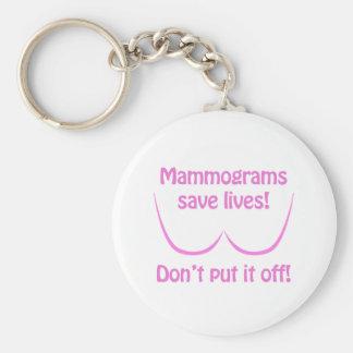 Mammograms Save Lives Keychain