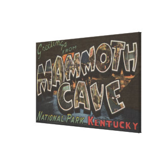 Mammoth Cave, Kentucky - Large Letter Scenes Gallery Wrap Canvas