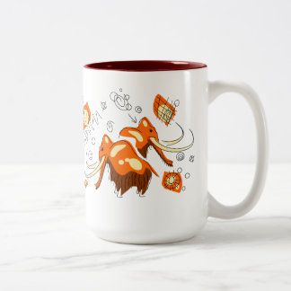 Mammoth Cave Painting With Entoptics Two-Tone Coffee Mug