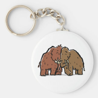 mammoth couple basic round button key ring