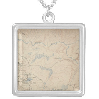 Mammoth Hot Springs and Vicinity 2 Silver Plated Necklace
