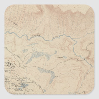 Mammoth Hot Springs and Vicinity 2 Square Sticker