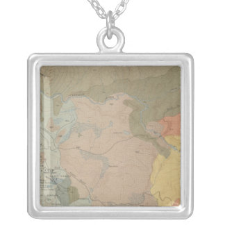 Mammoth Hot Springs and Vicinity Silver Plated Necklace