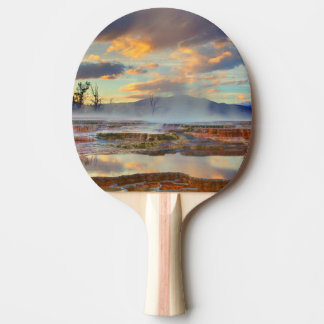 Mammoth Hot Springs Ping Pong Paddle