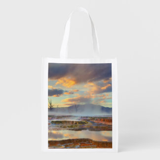 Mammoth Hot Springs Reusable Grocery Bag