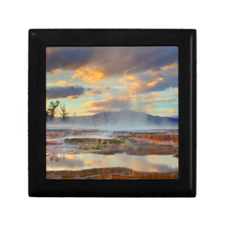 Mammoth Hot Springs Small Square Gift Box