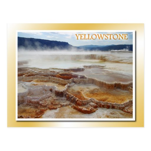 Mammoth Hot Springs, Yellowstone National Park Post Cards