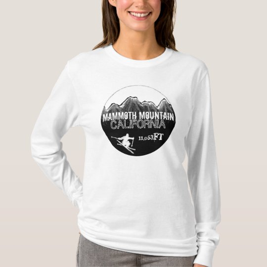 Mammoth Mountain California black white ski hoodie