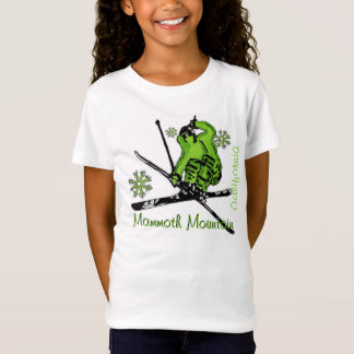 Mammoth Mountain California green girls tee