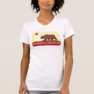 Mammoth Mountain California ladies state flag tee