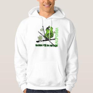 Mammoth Mountain California neon green ski hoodie