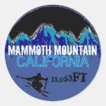 Mammoth Mountain California ski blue art stickers