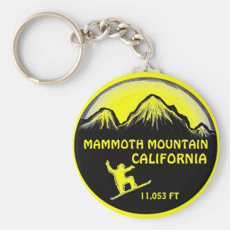 Mammoth Mountain California snowboard art keychain