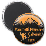 Mammoth Mountain California snowboard art magnet