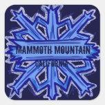 Mammoth Mountain California snowflake stickers