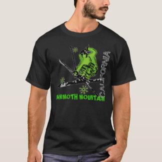 Mammoth Mountain neon green California guys tee