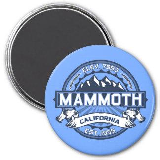Mammoth Mtn Blue 7.5 Cm Round Magnet