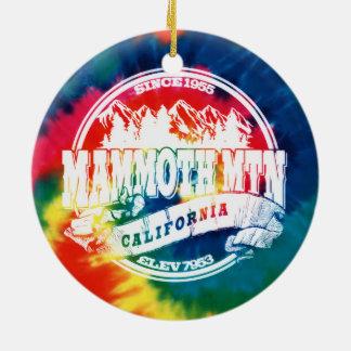 Mammoth Mtn TieDye Christmas Ornament