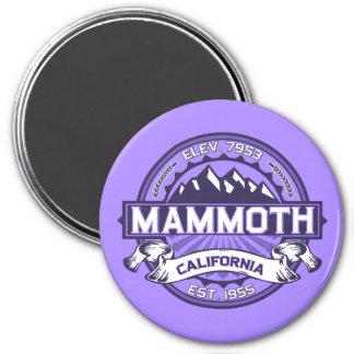 Mammoth Mtn Violet 7.5 Cm Round Magnet